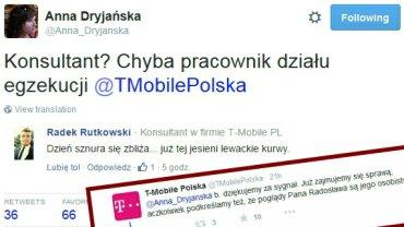 """""""Dzie� sznura si� zbli�a"""" - pisze konsultant T-Mobile. Szybkie pytanie do firmy i... b�yskawiczna reakcja"""