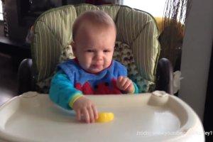 Te dzieci pierwszy raz w życiu zjadły cytrynę. Ich miny są rozbrajające