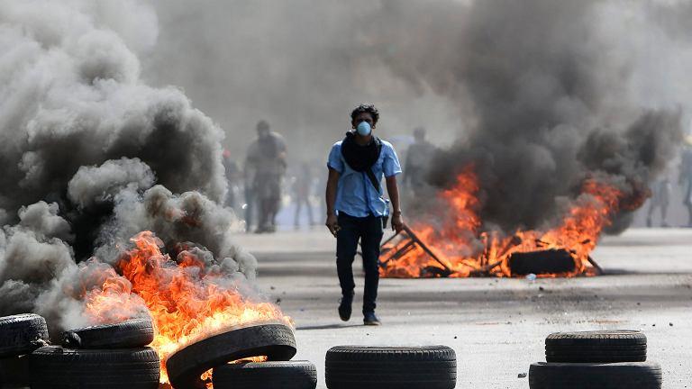 Niedzielne zamieszki na ulicach Managui, 20 kwietnia 2018 r.