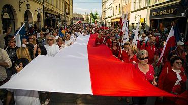 Marsz Wolności przeszedł przez Kraków w rocznicę wyborów 4 czerwca 1989 roku