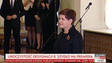 Prezydent desygnuje Beatę Szydło na premiera
