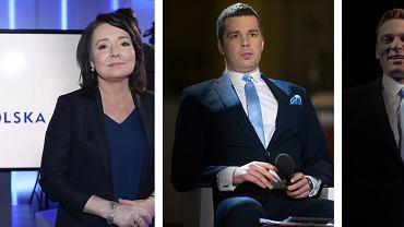 Gwiazdorzy TVP z nadania PiS: Danuta Holecka, Michał Rachoń i Krzysztof Ziemiec