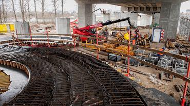 Budowa kładki pieszo-rowerowej na moście Łazienkowskim