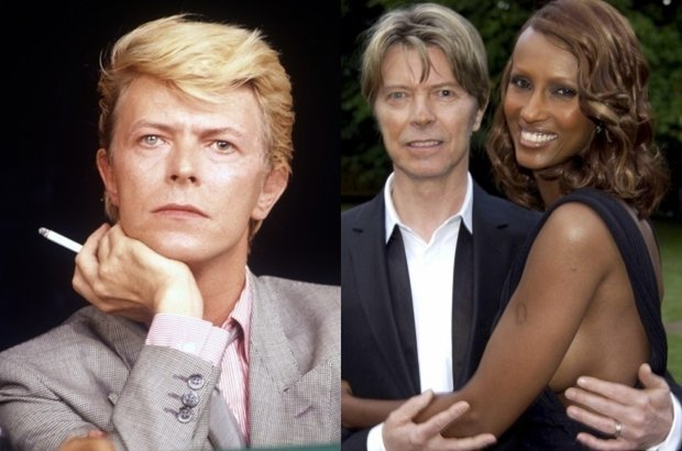 David Bowie z �on� Iman