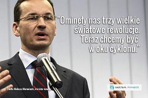 Oto wielki plan Morawieckiego. Bilion złotych, lepiej płatne miejsca pracy, proste podatki i Konstytucja biznesu