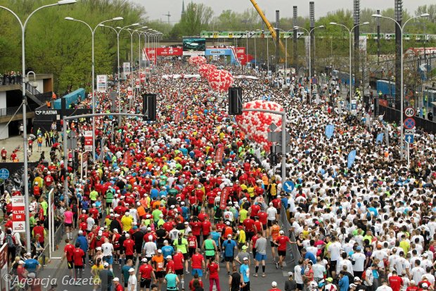 13.04.2014  Warszawa . Warsaw Orlen Marathon.  Fot. Przemek Wierzchowski / Agencja Gazeta SLOWA KLUCZOWE: /FR/