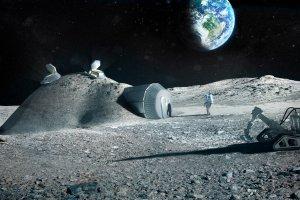Wizualizacja bazy na Księżycu