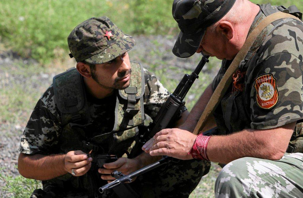 Po stronie separatystów walczą, jak twierdzą, ochotnicy z Hiszpanii