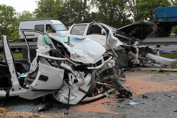 Zdj�cie numer 4 w galerii - �miertelny wypadek na S7. Czo�owe zderzenie [WIDEO]