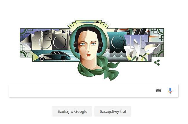 Tamara Łempicka na GOOGLE DOODLE. Dlaczego została bohaterką Google Doodle?