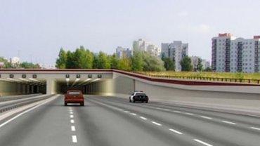 Południowa Obwodnica Warszawy - wizualizacja wjazdu do tunelu pod Ursynowem