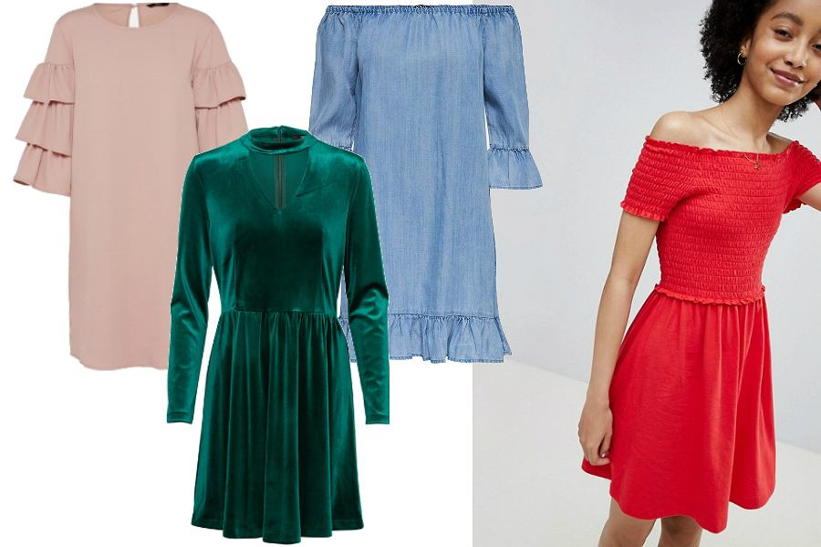 Kolorowe sukienki ONLY