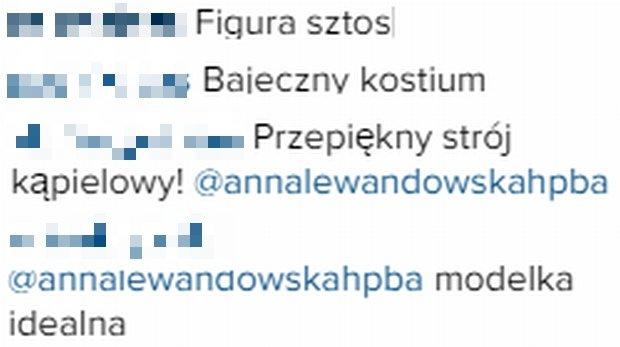 Komentarze fanów Anny Lewandowskiej