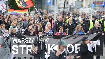 Protest przeciwko zaostrzeniu ustawy antyaborcyjnej w Warszawie
