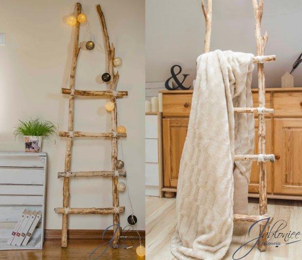 Drewniana drabina - modna dekoracja wnętrz. Zrób ją sam!