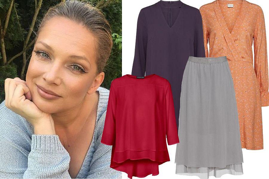 Kolaż, ubrania dla kobiet o pełniejszych kształtach