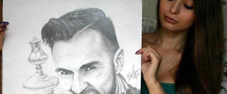 Niezwyk�e rysunki 19-letniej Rosjanki! Daria rysuje gwiazdy futbolu, jest i polski pi�karz