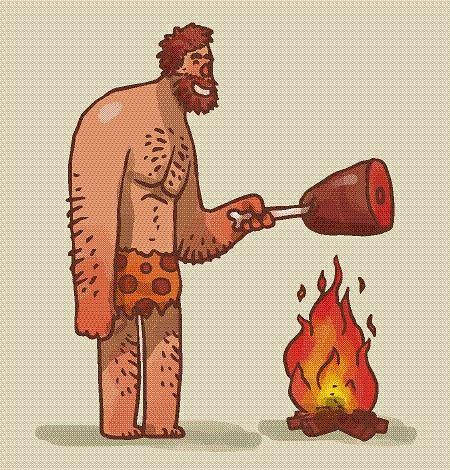 Dieta paleo oparta jest na sposobie odżywiania człowieka żyjącego w okresie paleolitu