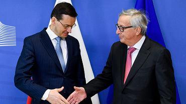 Mateusz Morawiecki i Jean-Claude Juncker