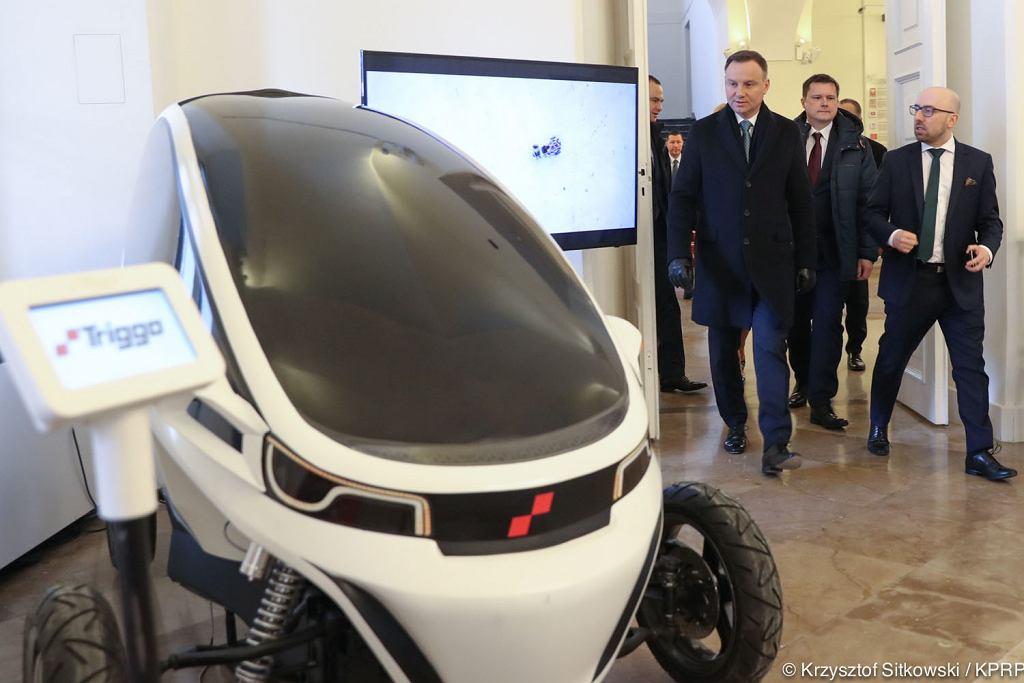 Andrzej Duda i 'Technologie przyszłości. Elektromobilność'