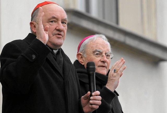 Kard. Kazimierz Nycz i abp Henryk Hoser na Marszu Świętości Życia, marzec 2013