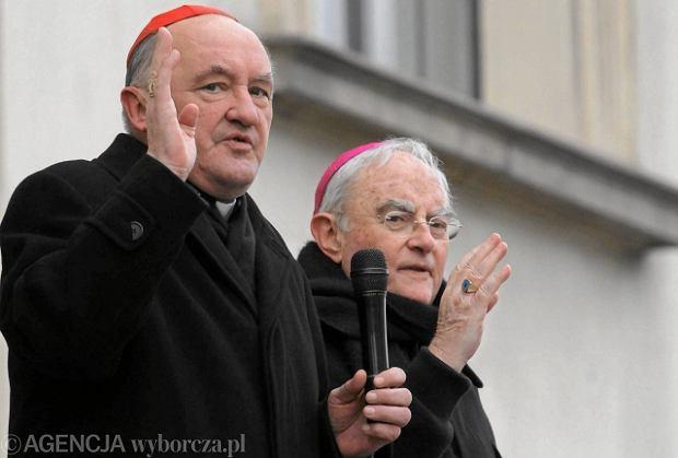 Kard. Kazimierz Nycz i abp Henryk Hoser na Marszu �wi�to�ci �ycia, marzec 2013