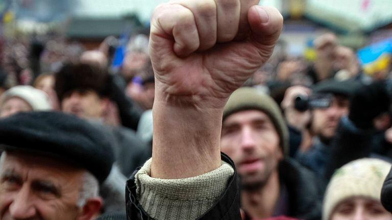 Proeuropejskie protesty na Majdanie Niepodległości w Kijowie