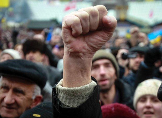 Proeuropejskie protesty na Majdanie Niepodleg�o�ci w Kijowie