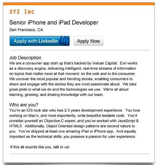 LinkedIn wprowadza własny przycisk, dzięki któremu można od razu wysłać swoje CV