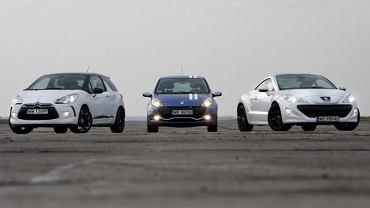 Citroen DS3 vs. Peugeot RCZ vs. Renault Clio RS Gordini