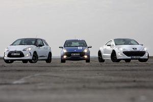 Citroen DS3 vs. Peugeot RCZ vs. Renault Clio RS Gordini - test por�wnawczy | Za kierownic�