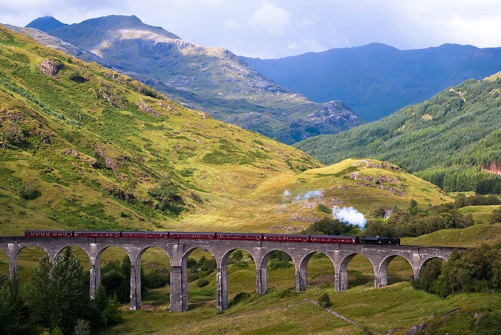 szkocja, pociąg