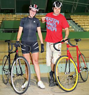 welodrom , rowery, ostre koło