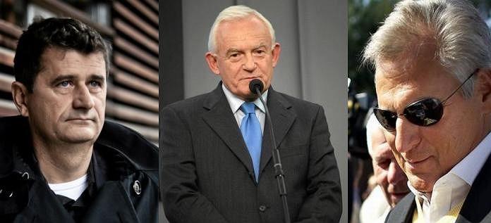 Janusz Palikot/ Leszek Miller/ Aleksander Kwaśniewski
