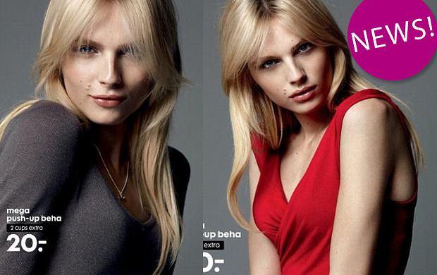Andrej Pejic reklamuje biustonosze push-up marki Hema