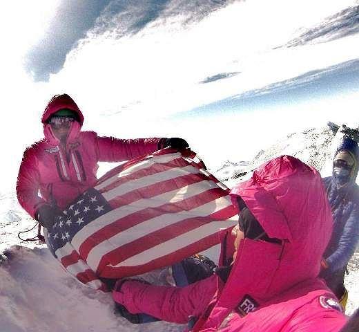 Jordan Romero na szczycie Mount Vinson