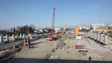 Budowa węzła Puławska