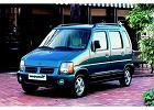 SUZUKI Wagon R+ 98-04, rok produkcji 1998, kombi, widok przedni lewy, samoch�d 5-drzwiowy, kolor niebieski jasny
