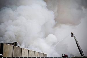 Płoną setki ton śmieci. Pożar wysypiska w Studziankach (WIDEO, zdjęcia)