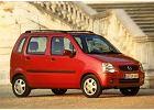 OPEL Agila 00-03, rok produkcji 2000, kombi, widok przedni prawy, samoch�d 50-drzwiowy, kolor czerwony jasny