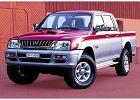 MITSUBISHI L 200 96-07, rok produkcji 2000,  widok przedni lewy, samoch�d 4-drzwiowy, kolor fioletowy