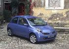 NISSAN Micra 05-07, rok produkcji 2003, coupe, widok przedni prawy, samoch�d 3-drzwiowy, kolor niebieski jasny
