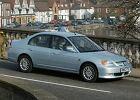 HONDA Civic Sedan 01-04, rok produkcji 2001, sedan, widok przedni prawy, samoch�d 4-drzwiowy, kolor silver grey