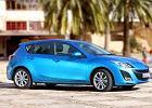 MAZDA 3 Hatchback 09-11, rok produkcji 2009, coupe, widok przedni prawy, samoch�d 5-drzwiowy, kolor niebieski jasny