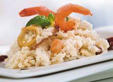 Krewetki na risotto z owocami morza - ugotuj