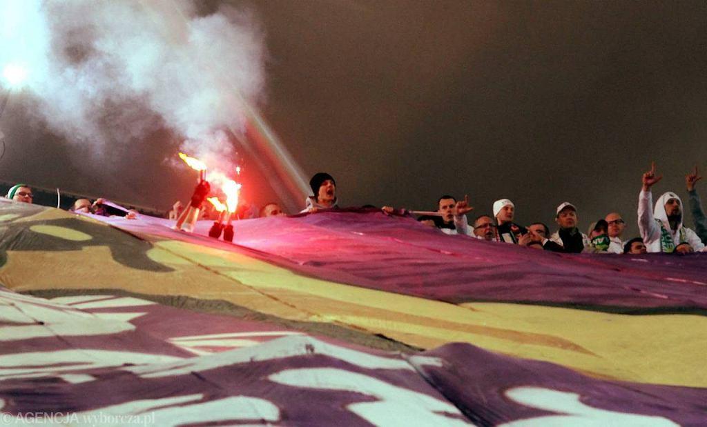 Oprawa meczowa podczas derbów Warszawy, Legia - Polonia, 16 marca 2012