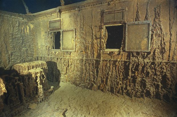 Wn�trze kajuty pierwszej klasy we wraku liniowca RMS Titanic / NGM