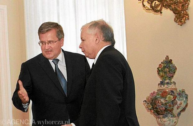 Bronis�aw Komorowski i Jaros�aw Kaczy�ski