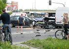 Zderzenie pi�ciu aut na Sk�adowej. Prawdopodobny sprawca pijany