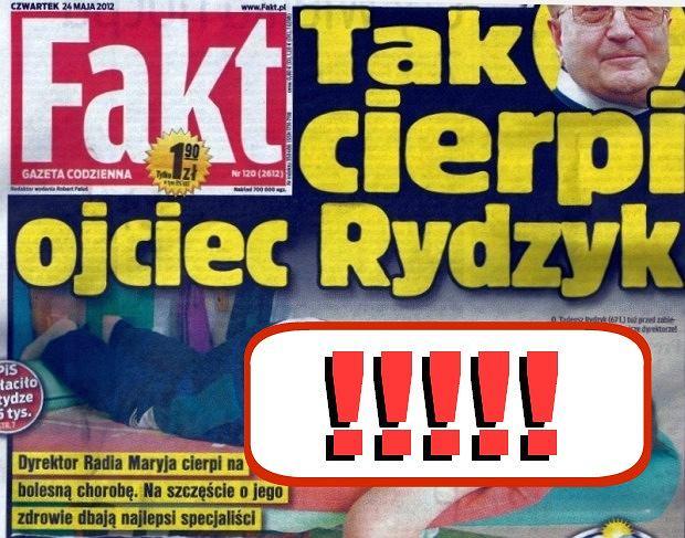 Ojciec Tadeusz Rydzyk Tadeusz Rydzyk Cierpi